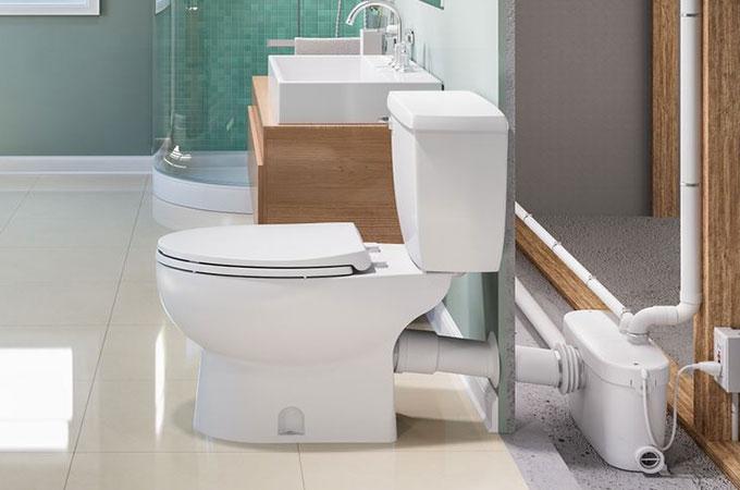 WC avec broyeur